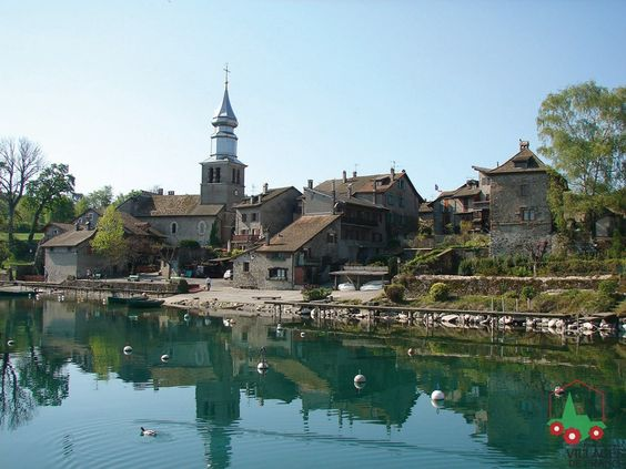 Yvoire - medieval village on the lake of geneva  - take a boat across the lake