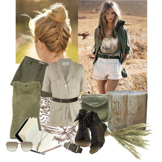 Safari Style By Vanshion On Polyvore Safari Style Pinterest Tunics Shoes And Safari