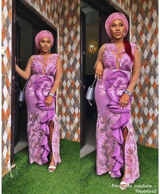 Ravishing Asoebi Styles For Wedding Guest Lace Dress Styles Aso Ebi Styles Lace Fashion