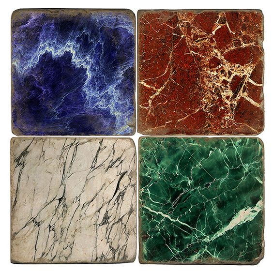 Studio Vertu Marble Coasters (¥5,960) ❤ liked on Polyvore featuring home, kitchen & dining, bar tools, handmade coasters and marble coasters