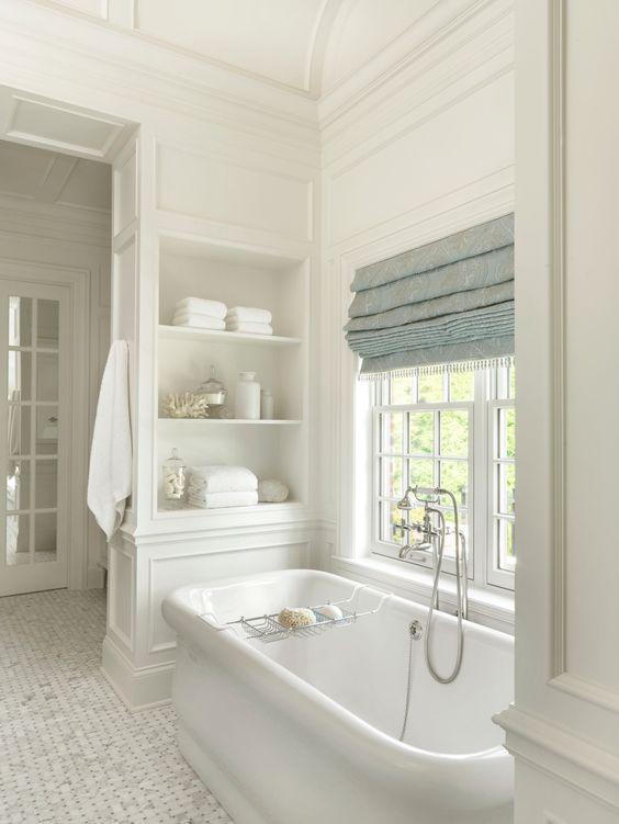 15 Most Beautiful Bathrooms on Pinterest -Traditional Bathroom-Freestanding Bathtub-Traditional molding design-bath design