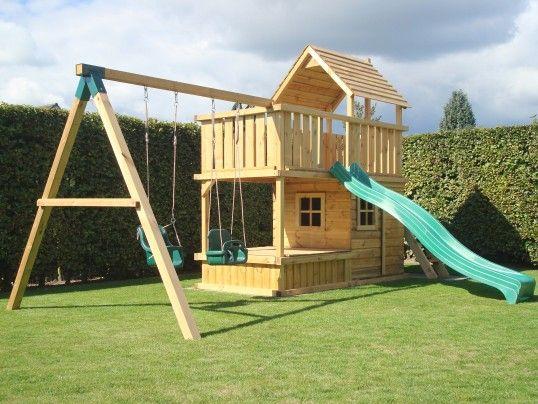 Spielturm Balkon Sandkasten Tur Und Fenster Vorderseite Kinder Spielhaus Garten Spielturm Hinterhof Spielplatz