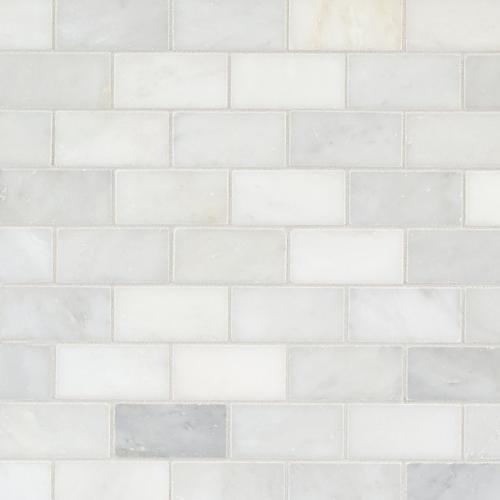 Carrara White Brick Marble Mosaic Floor Decor White Brick Carrera Marble Backsplash Marble Mosaic Floor