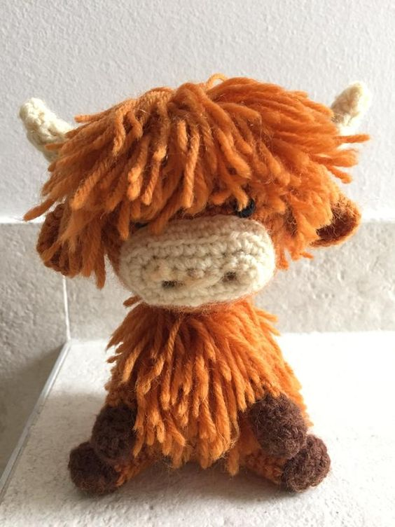 Amigurumi Easter Egg Pattern Free : Highland cow, in all its hairy glory :) Crafts ...