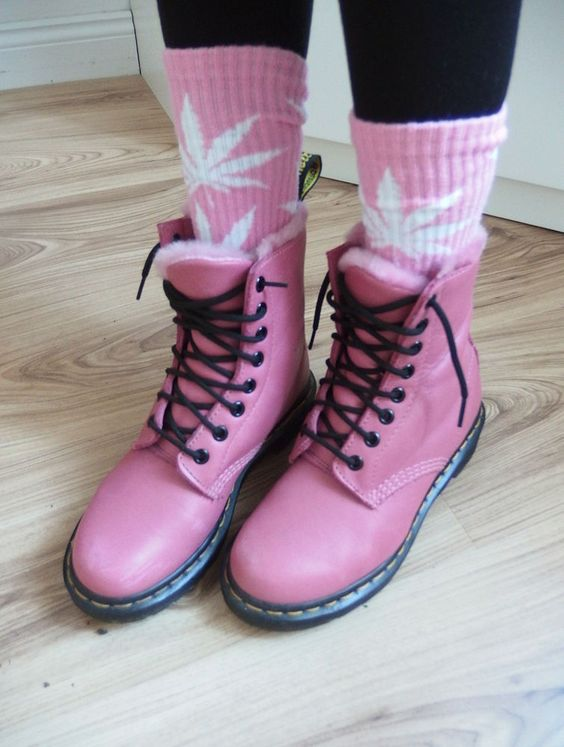 DR. MARTENS 8-Loch Stiefel  serena  {rosa/pink/pastell} 36/37 schuhe doc docs