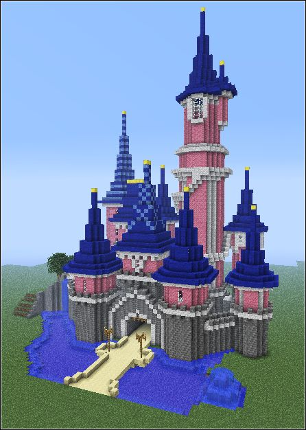 Disney castle in minecraft outros pinterest for Build a castle home