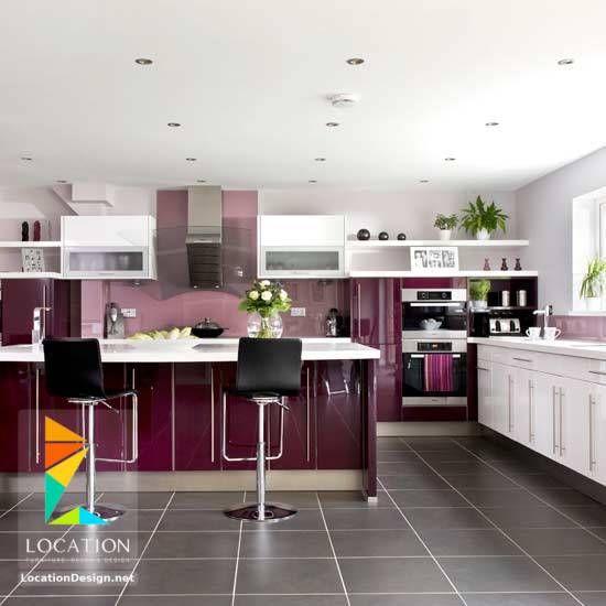 ديكور مطبخ اشكال و الوان مطابخ 2018 2019 Modern Kitchen Colours Purple Kitchen Kitchen Colour Combination