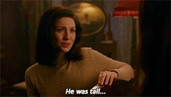 "Claire describing Jamie | Outlander, ""Dragonfly in amber"""