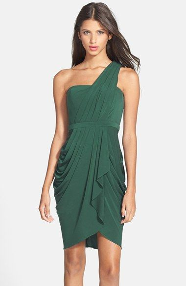 Women&-39-s BCBGMAXAZRIA &-39-Julieta&-39- Pleated Jersey One-Shoulder Dress ...