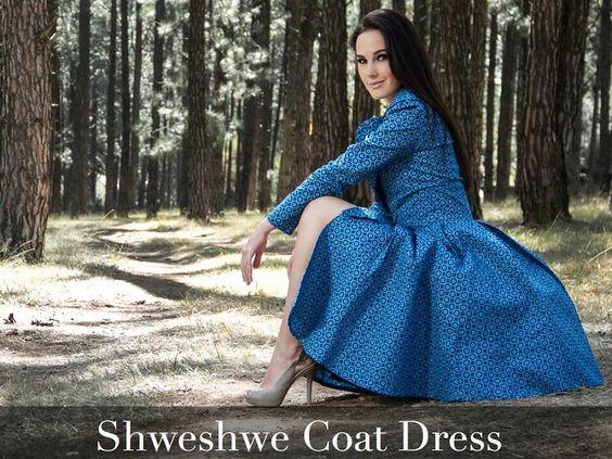 #ankara Coat Dress. #shweshwe Coat Dress. Khosi Nkosi