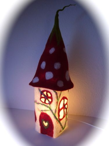 felted fairy house nightlight -love it!