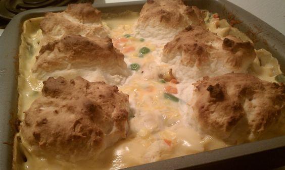 Weight Watchers Friendly Recipes: Chicken & Biscuits Casserole