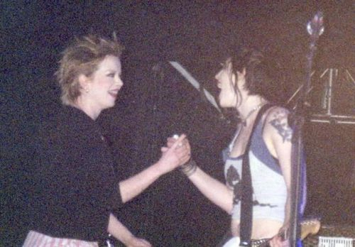 Brody Dalle and Shirley Manson