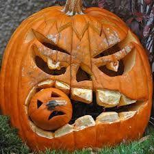 how to make awesome halloween crafts easily - Google Search…hummm.  make him a pumpkin headed costume?