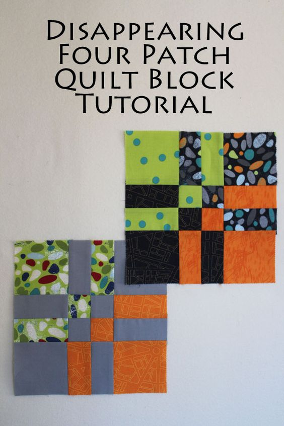 Disappearing Four Patch Quilt Block Tutorial - simple to make