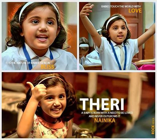 Theri Movie Love Images With Quotes: Cutest-Adorable Baby #Nainika In #Theri