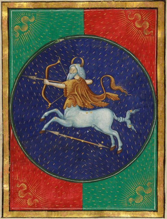 Sagittarius~Book of Hours~ca. 1473 The Morgan Library & Museum: