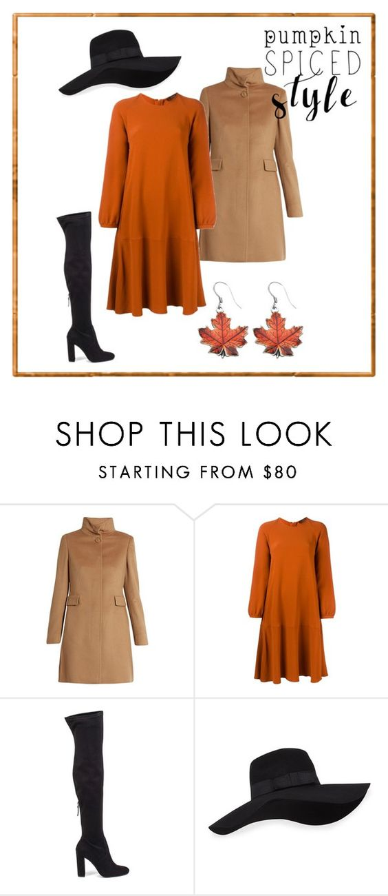 Fall isnpiration by pilvisti on Polyvore featuring Odeeh, MaxMara, Steve Madden, San Diego Hat Co. and Fall