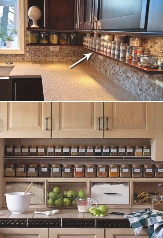 The Best Ideas From Stylish Smart Small Kitchen Storage Clutter Free Kitchen Countertops Clutter Free Kitchen Kitchen Remodel Small