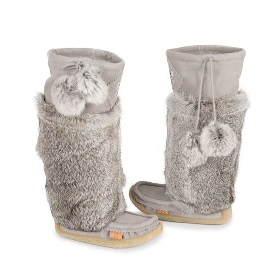 These Smokey Grey #Lukluks are perfect for cold weather - the rabbit fur will keep you warm and the flexible sole will keep you comfortable!