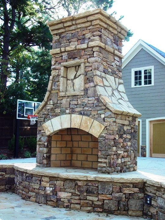 Outdoor Fire Stone Fireplaces And Stacked Stone Fireplaces
