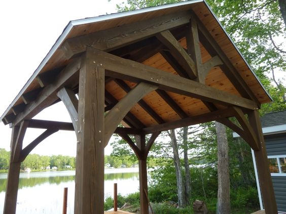 Hybrid house with creative timber frame elements | Wise Owl Joinery Co. - Nova Scotia's leading timber frame company