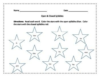 math worksheet : open syllable worksheets  worksheetsworksheets : Syllable Division Worksheets
