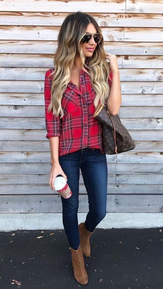 So stylt man Jeans und Ankle Boots im Herbst Winter