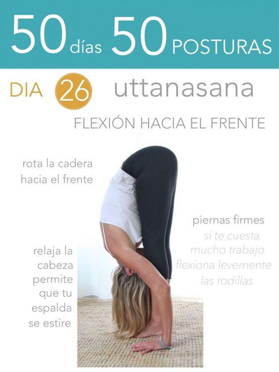ૐ YOGA ૐ ૐ ASANAS ૐ ૐ Uttanasana ૐ 50 días 50 posturas. Día 26. Flexión hacia el Frente