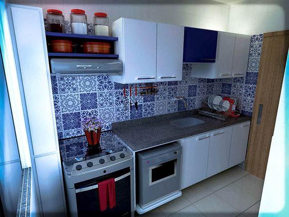 3- cozinha azul e branca azulejo portugues