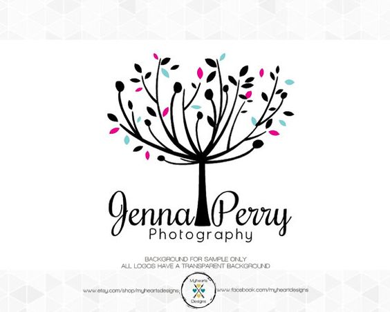 Modern Premade Tree Logo and Watermark For by myheartsdesigns, $55.00