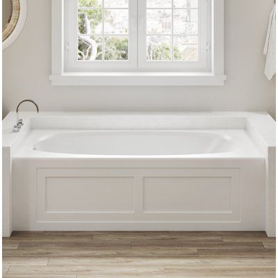 Jacuzzi Amiga 72 X 36 Drop In Whirlpool Bathtub Color White