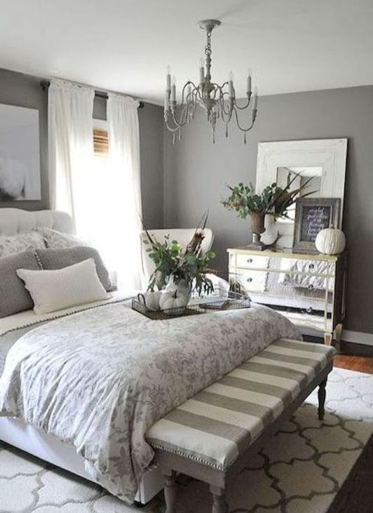 35 Farmhouse Bedroom Design Ideas You Must See Small Master Bedroom King Bed Small Bedro Apartment Bedroom Decor Small Apartment Bedrooms Bedroom Interior Small apartment bedroom decor ideas