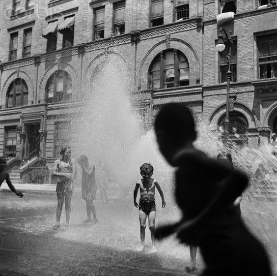 Alexander Alland, Sr. Children Playing in Fire Hydrant Water