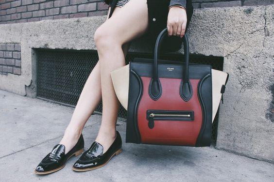 Michelle (@runwayonthego) Celine luggage #ootd #lotd #wiw #fashionblogger