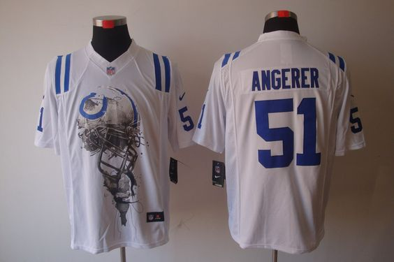 e4666df49 Pinterest 129.99 Mens Nike Indianapolis Colts Colts 51 Pat Angerer Elite  White 30th Seasons Patch NFL Jersey ...