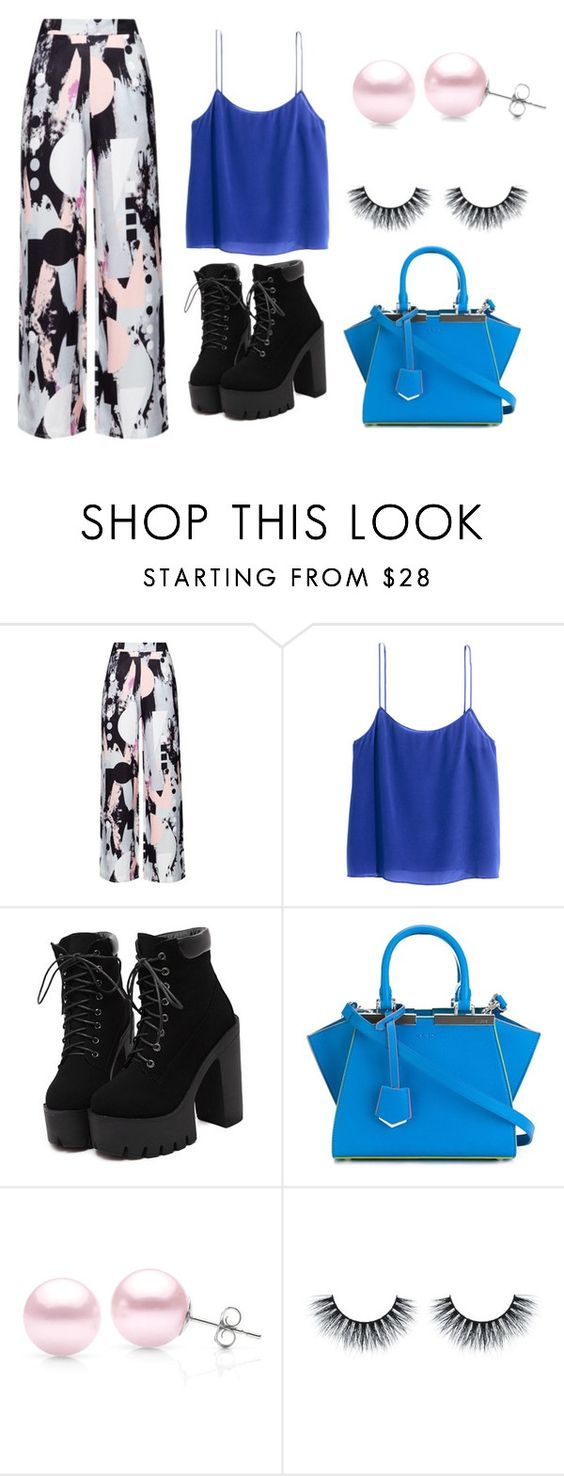 """Something isn't right"" by mirta296 ❤ liked on Polyvore featuring H&M, Fendi and Suzy Levian"