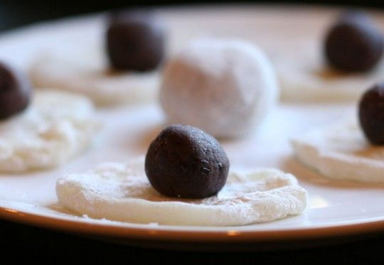This recipe for red bean-paste-filled mochi uses way more sugar in the mochi than does other recipes.  Sounds good though.