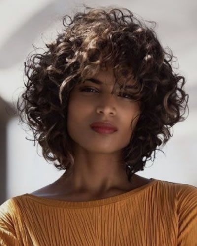 The Most Trendy Curly Hairstyles For Women In 2020 In 2020 Curly Hair Styles Short Curly Hair Medium Curly Hair Styles