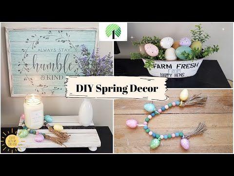 Dollar Tree Diy Spring Home Decor Easter New 2020 Bead Tassle Youtube Dollar Tree Easter Crafts Spring Diy Spring Easter Decor