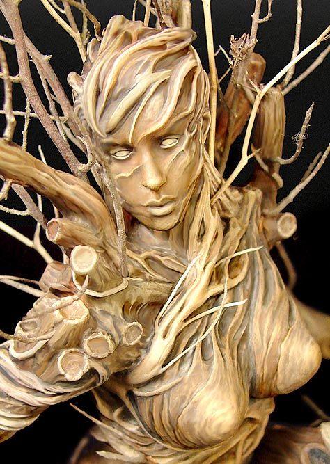 Female Tree Spirit | Mine is somewhat less ornate and less fragile - I used plastic trees ...