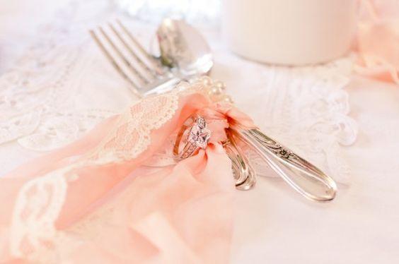 Vintage lace, peachy color