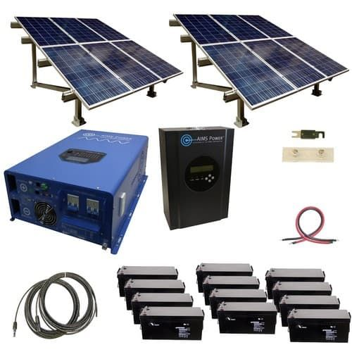 Aims Power Kita 12k48240 C1 Invertersupply Com Solar Panels Solar Kit Best Solar Panels