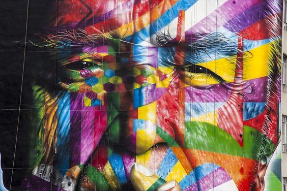Mural de Eduardo Kobra en São Paulo.