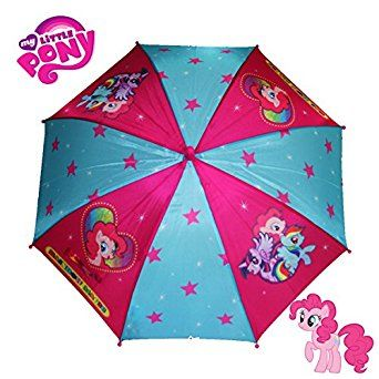 MLP My Little Pony Rainbow Dash Twilight Sparkle & Pinkie Pie Pink Kids Rain Umbrella Brony