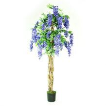 Kunststof bloemenboom Kiruna blauw 180 cm