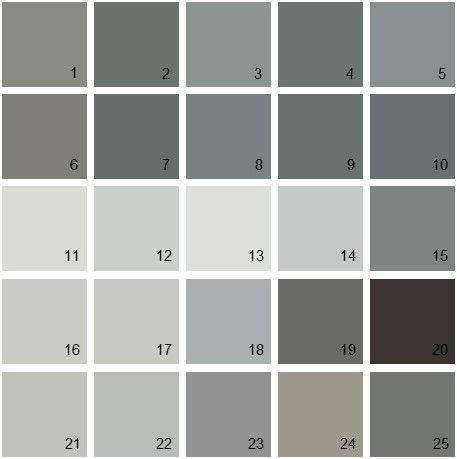 Benjamin Moore Gray House Paint Colors Palette 07 12