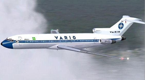 Vintage VARIG Air Lines Boeing 727-200 - Credits to author