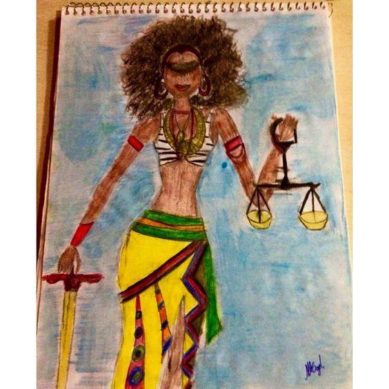 Minha Deusa da Justiça #comcor #arteafro #deusadajustica #desenho by nataliabayeh