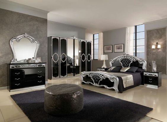 Modern classic Silver bedroom and Bedroom modern on Pinterest